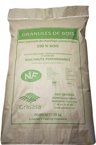 GRANULES DE BOIS  GRASASA ENERGIES SUD OUEST